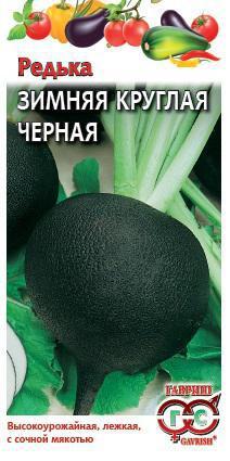 Редька Черная зимняя круглая 1,0 г сер. Традиция