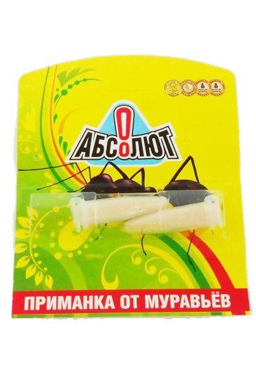 Абсолют приманка от муравьев 2 амп. по 2г (кор.100шт)