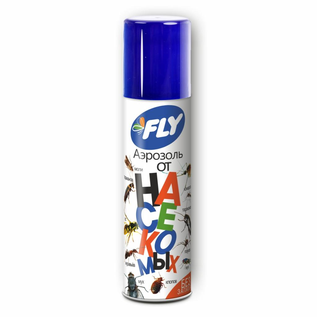 FLY Аэрозоль от насекомых 145мл, (дихлофос без запаха) кор. 24шт