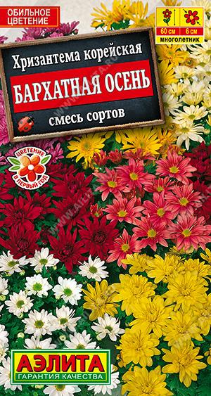 Хризантема Бархатная осень, корейская смесь окрасок ф.п.0,02г