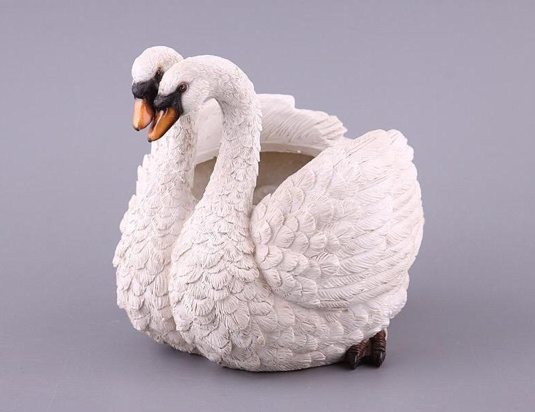 ЗооКашпо Два лебедя Р101051