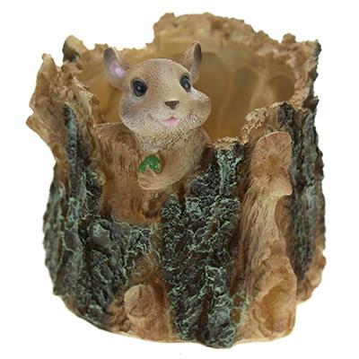 ЗооКашпо Мышка на пеньке НР091028